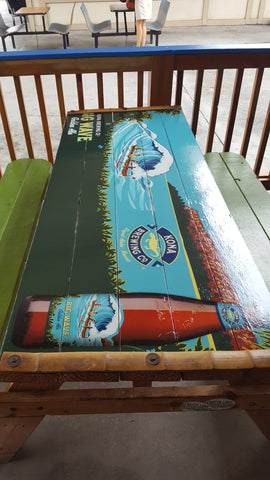 Table Laminated Vinyl Lets Go Banners