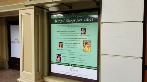 Window Glass Vinyl Covering at Kings Shoppes
