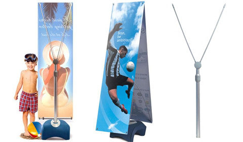 Zephyr Outdoor Single and Double Sided Vertical Banner Stands