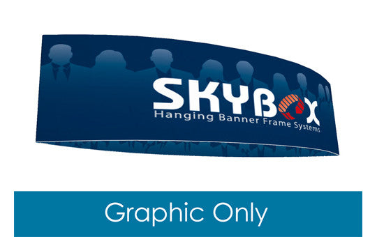 Football shaped hanging banner display inside and outside graphic only 12 foot by 60 inch