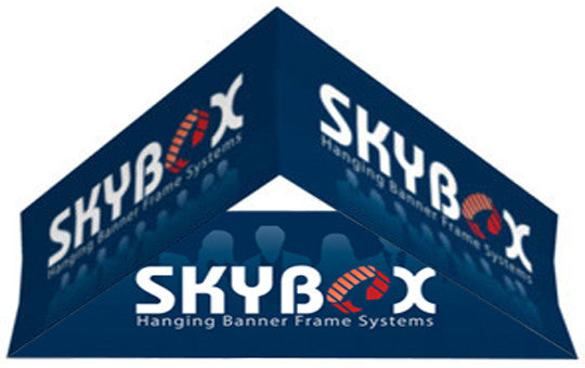 15 Foot by 32 Inch Triangle Hanging Banner Display Inside and Outside Graphic Package