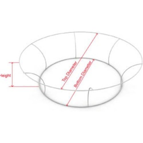 14 foot by 48 inch Tapered Circle Hanging Banner Display Frame