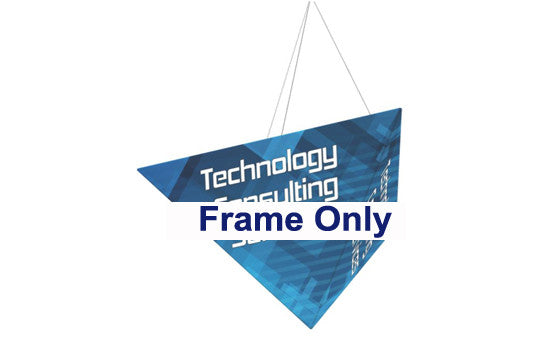 Three Sided Pyramid Hanging Trade Show Display Frame Only 16 Foot