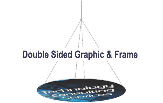 18 Foot Horizontal Double Sided Graphic and Frame Combo
