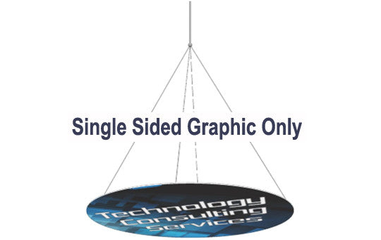18 Foot Single Sided Horizontal Hanging Display Graphic Only