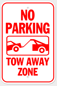 18 Inch by 12 Inch Aluminum Parking Sign