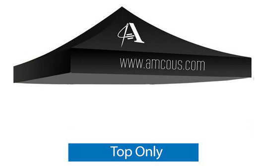 1 Color Imprint Black Top - 10 Foot Custom Canopy Top Only