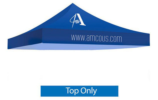 1 Color Imprint Blue Top - 10 Foot Custom Canopy Top Only