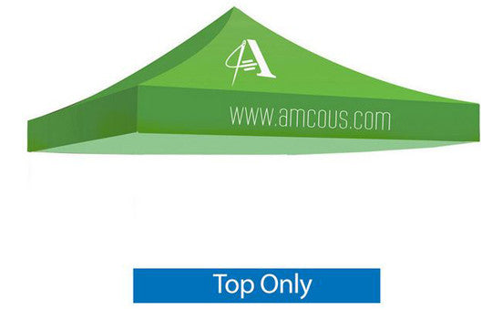 1 Color Imprint Green Top - 10 Foot Custom Canopy Top Only