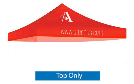 1 Color Imprint Red Top - 10 Foot Custom Canopy Top Only