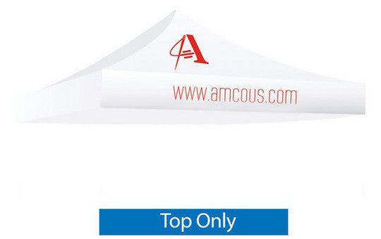 1 Color Imprint White Top - 10 Foot Custom Canopy Top Only