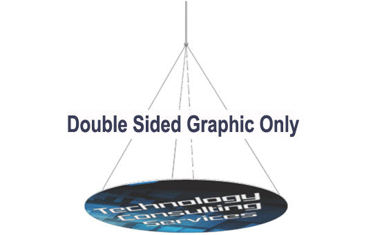 20 Foot Double Sided Horizontal Hanging Display Graphic Only