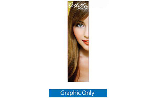 24 inch by 85 and 92 inch high Silverstep Retractable Banner Stand Graphic Only