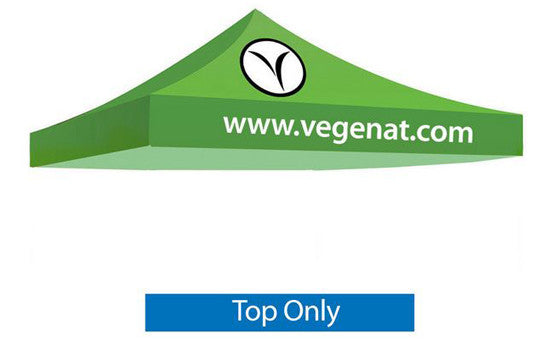 2 Color Imprint Green Top - 10 Foot Custom Canopy Top Only