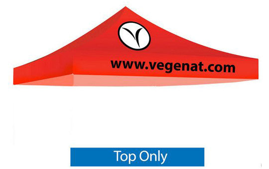 2 Color Imprint Red Top - 10 Foot Custom Canopy Top Only