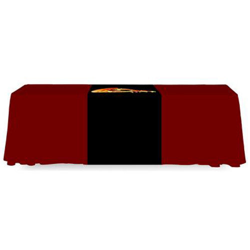 Exceptionnel ... 2 Foot Wide Custom Printed Table Runner Full Back