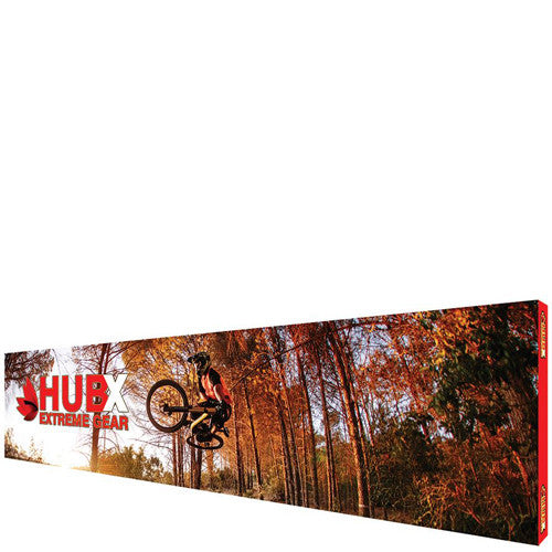 "RPL Pop-Up Display 30' W x 89"" H Straight Graphic and Frame Combo with End-Caps"