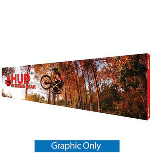 "RPL Pop-Up Display 30' W x 89"" H Straight Graphic Only with End-Caps"