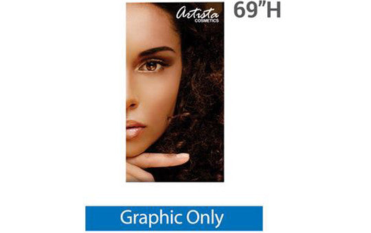 "33.5"" x 69"" H Graphic for Silver Wing 33.5"" Retractable Banner Stand"