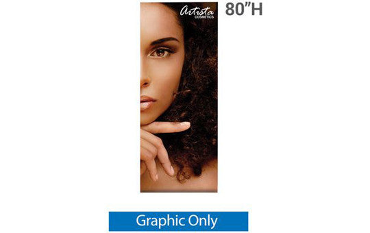 "33.5"" x 80"" H Graphic for Silver Wing 33.5"" Retractable Banner Stand"