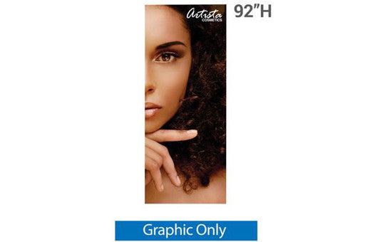 "33.5"" x 92"" H Graphic for Silver Wing 33.5"" Retractable Banner Stand"