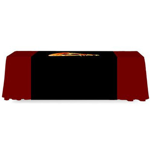 4 Foot Wide Custom Printed Table Runner Full Back