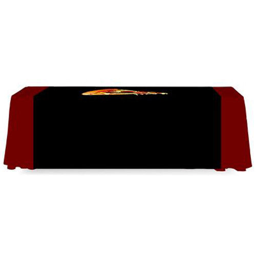 5 Foot Wide Custom Printed Table Runner Full Back