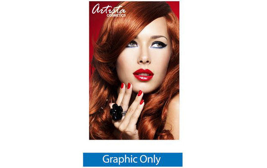 60 inch by  69 inch 80 inch and 92 inch high Silverstep Retractable Banner Stand Graphic Only