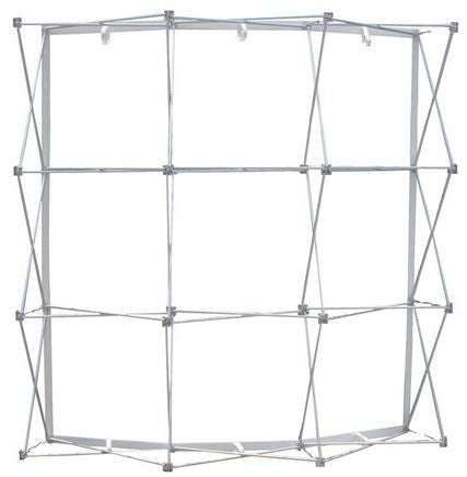 8 Foot Ready Pop Curve Trade Show Display Frame