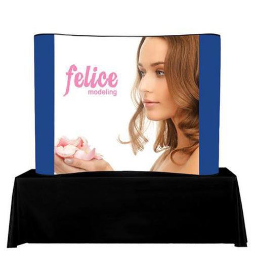 Tabletop 8 Foot Pop Up Trade Show Display Center Graphic Package (PVC)