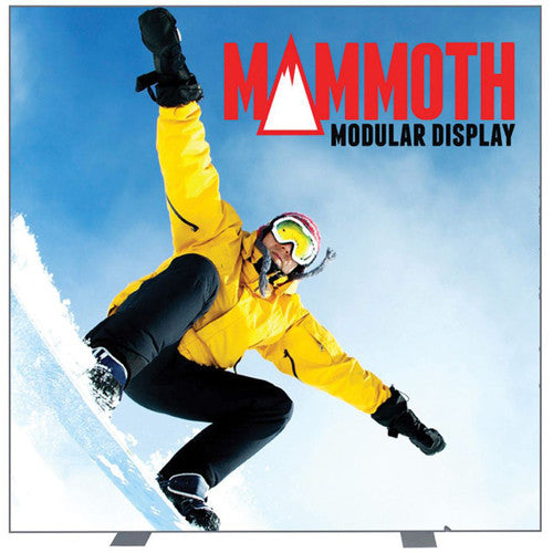 Mammoth 8ft x 8ft Single Sided (Light Box) Graphic and Frame Combo with Case