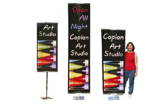Adjustable Double Sided Banner Stands