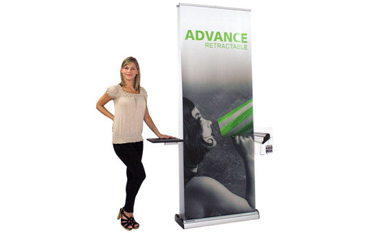 "Advance Double Sided 31.5"" W by 83.35"" H Retractable Banner Stand"