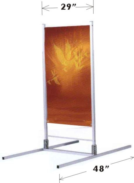 All Weather Double Sided Banner Spring Frame