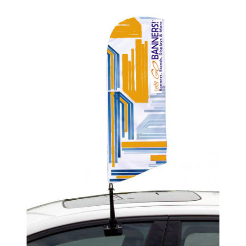 Car Bowflag® Angled Double Sided Graphics Package QTY: 25