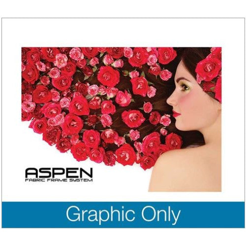 Aspen Fabric Frame 10 Feet by 7.5 Feet Double Sided Graphic Only