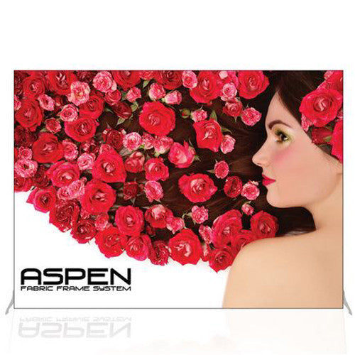 Aspen Fabric Frame 10 foot Backwall Frame And Single Sided Graphic Combo