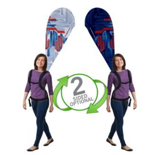 Backpack Walking Bowflag Teardrop Double Sided Graphic and Backpack Combo