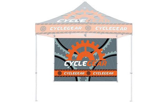Single Sided Back Wall Full Color Plus 1 Steel Rail For 10 Foot Steel Custom Canopy Pop Up Tent Graphic Only