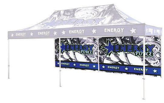 Single Sided Back Wall Full Color For 20 Foot Custom Canopy Pop Up Tent Graphic Only