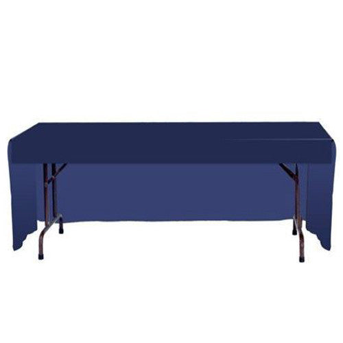 Back side of three sided stock color table covers