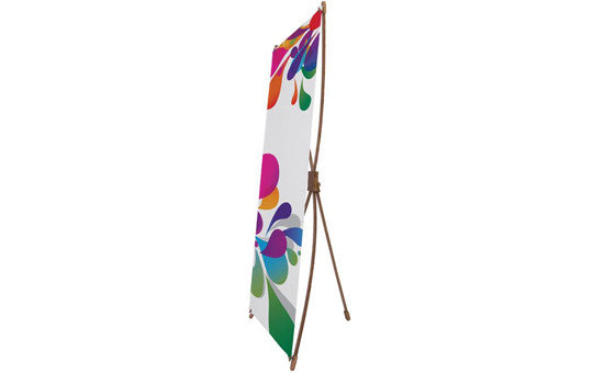 Bamboo X Banner Stand 2 foot by 5 foot stand hardware only