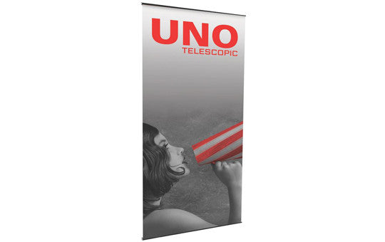 "Uno Monster 48.5"" Wide Single Sided Banner Stand (with Telescopic Pole)"