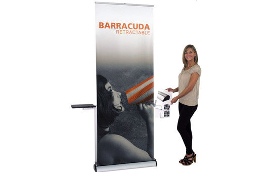 "Barracuda 31.5"" W by 83.35"" H Tension Control Retractable Stand"