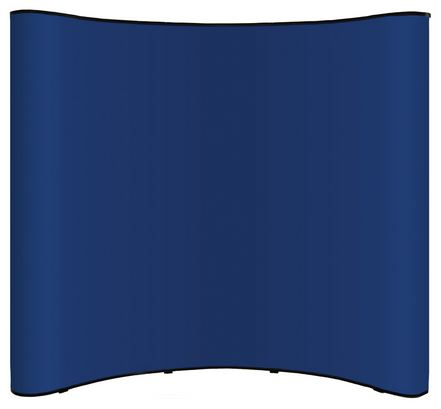 Big Wave 8 Foot Pop Up Display Blue Fabric