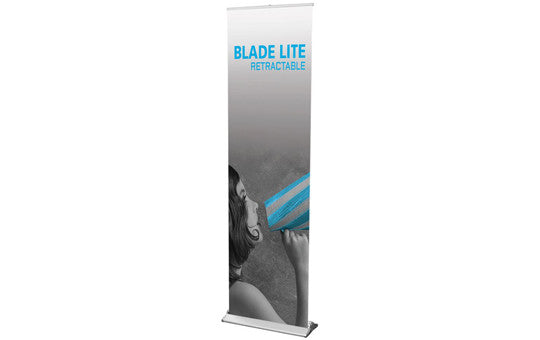 "Blade Lite 23.5"" W by 83.25"" H Retractable Banner Stand"