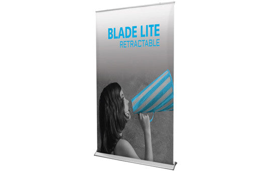 "Blade Lite 47.25"" W by 83.25"" H Retractable Banner Stand"