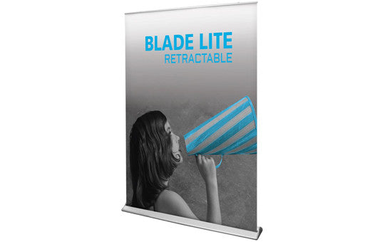 "Blade Lite 59"" W by 83.25"" H Retractable Banner Stand"