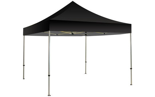 Black Blank 10 x 10 Foot Canopy Tent and Frame Combo - Lets Go Banners