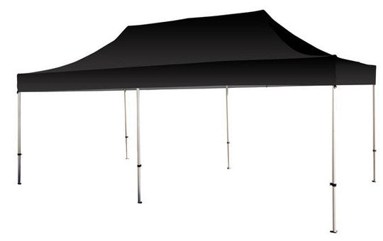 Black Blank 20 x 10 Foot Canopy Tent and Frame Combo
